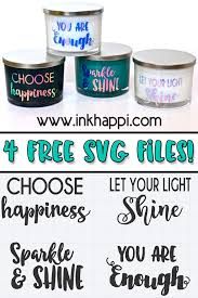 Vinyl Sayings On Glass Candles Using Cricut You Will Fall In Love With This Easy Project Inkhappi