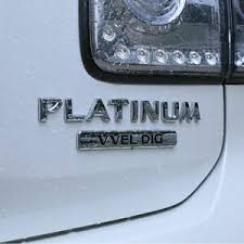 Chrome Abs Platinum Vvel Dig Car Trunk Rear Emblem Badge Decals Sticker Oem Ebay