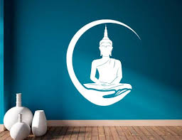 White Modern Lord Buddha Wall Decal Sticker For Living Room Rs 299 Unit Id 21497403488