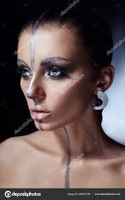 creative makeup woman face
