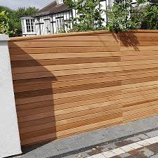 Cequence Slatted Cedar Fence Panel Privacy Panel