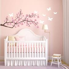 Cherry Blossom Wall Decal Nursery Wall Decals Tree Decals Baby Girl Nursery Girl Decoracion Habitacion Bebe Decorar Habitacion Bebe Decorar Cuarto Bebe