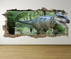 Ws4 Dinosaur T Rex Hole In Wall Smash 3d Wall Art Decal Sticker Mural Decal Ebay