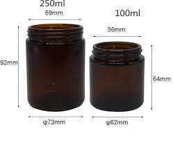 vape 250ml amber glass container jars