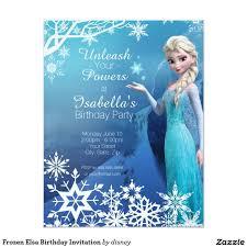 Frozen Elsa Birthday Party Invitation Zazzle Com Invitaciones