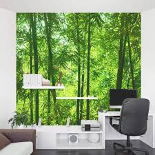 White Bamboo Wall Decal Murals Shoot Forest Design Bathroom Art Vamosrayos