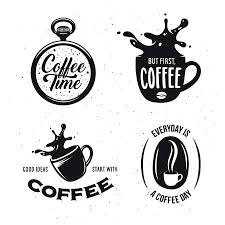 coffee shop logo stock illustrations cliparts and royalty