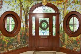 oval stained glass window
