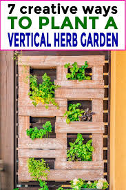 plant a vertical herb garden