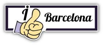 I Like Barcelona Travel Slogan Car Bumper Sticker Decal Etsy