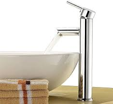 single tall lever taps chrome plated