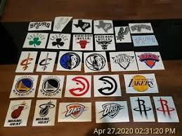 117 Nba Decals Wholesale Lot Nba Basketball Team Stickers Decals Yeti Spurs Ebay