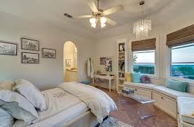 Kids Bedroom With Curved Window Seat Transitional Girl S Room