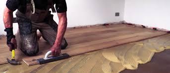 ing hardwood floor to concrete