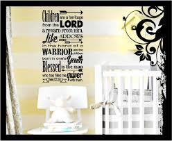 Christian Bible Verse Vinyl Wall Decal Psalm 127 3 5 Children Etsy