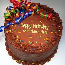 party birthday cake with name