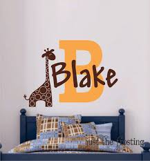 Safari Wall Decal Giraffe Wall Name Decal Name Vinyl Wall Etsy Nursery Wall Decals Vinyl Wall Decals Wall Decals