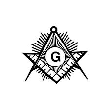 60 Masonic Compass Vinyl Sticker
