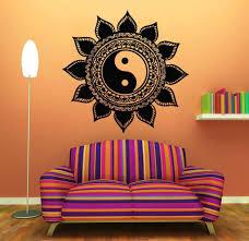 Yin Yang Floral Yoga Meditation Vinyl Decal Mural Wall Art Free Shipp Mandalamagikdeals Com