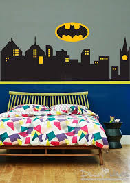 Superhero Wall Decal City Skyline Vinyl Decal Gotham City Skyline Batman Emblem Superhero Wall De Superhero Wall Decals Superhero Wall Boys Wall Decals