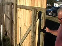 how to build a wood gate in minutes by