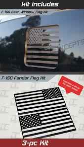 F 150 Flat Black Rear Window Fender Flag Package Decal Kit 2015 2018 Decal Concepts