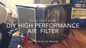 diy box fan air filter purifier high