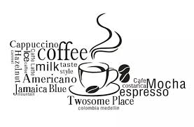 Coffee Shop Wall Decal Coffee Lettering Words Collection Mural Art Wall Sticker Coffee Shop Bar Dinner Room Home Decoration Home Decor Art Wall Stickerwall Sticker Aliexpress