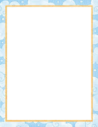 printable paper with baby borders