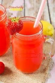 homemade strawberry lemonade with