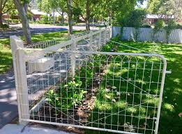 Woven Wire Gate Fence From Bigredwire Com Au Product Is Now Available In Usa Canada Farm Landscaping Farm Fence Backyard Firepit Area