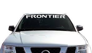 Nissan Frontier Windshield Banner Decal Sticker Custom Sticker Shop