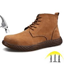 steel toe safety boots mens breathable