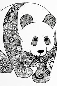 A One Of A Kind Artwork Of A Panda In Mandala Pattern It Is