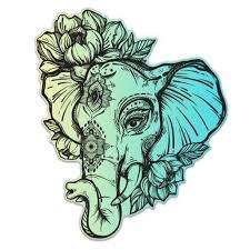 Elephant Henna Colorful Vinyl Sticker Waterproof Decal Sticker 5 Walmart Com Walmart Com