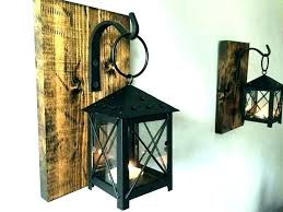 wrought iron wall sconces candle