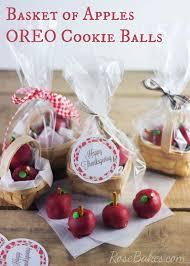 basket of apples oreo cookie