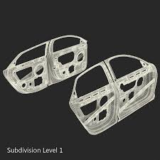 car door frames 3d model 79 c4d ma