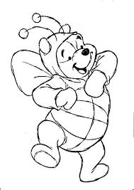 Kleurplaat Winnie The Pooh Is Verkleed Kleurplaten Dieren