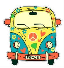 Hippie Peace Van Decorative Car Truck Decal Window Sticker Vinyl Die Cut Vacation Souvenir Travel Retro Vintage 1970 S Peace Van Weed Love Heart Dove Surf Music Festival Karma Walmart Com Walmart Com