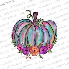 Painted Pumpkin Htv Transfer Pre Cut Heat Transfer Decal Vinyl Printcess