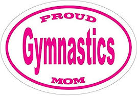 Amazon Com Wickedgoodz Oval Proud Gymnastics Mom Vinyl Decal Girls Bumper Sticker Perfect For Windows Cars Tumblers Laptops Lockers Sports Outdoors
