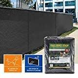 Amazon Com Amagabeli Heavy Duty 8 X50 Fence Privacy Screen For Chain Link Fence Fabric Screen With Brass Grommets 90 Blockage Outdoor 8ft Patio Construction Fencing Shade Tarp Mesh Uv Resistant Green Garden