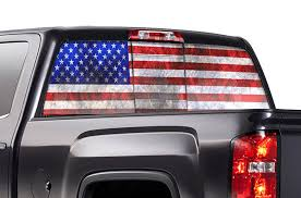 Chevy Silverado Rear Window Decals American Flag Racerx Customs Truck Graphics Grilles And Accessories