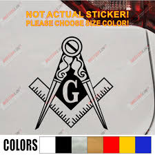 Decals Stickers Mason Masonic Reflective Auto Car Emblem Decal Sticker Made In Usa Collectibles Transportation