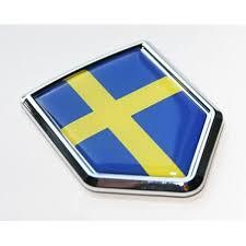 Amazon Com Car Chrome Decals Sweden Swedish Flag Decal Car Chrome Emblem Sticker Cbshd207 Automotive