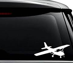 Amazon Com Cessna Plane Pilot Decal Sticker For Use On Laptop Helmet Car Truck Motorcycle Windows Bumper Wall And Decor Size 6 Inch 15 Cm Wide Color Gloss Black Arts Crafts Sewing