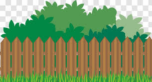 Picket Fence Flower Garden Clip Art Outdoor Structure Cliparts Backyard Transparent Png