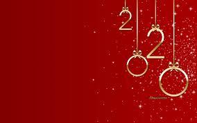 تحميل خلفيات الأحمر 2020 الخلفية سنة جديدة سعيدة عام 2020 بحروف