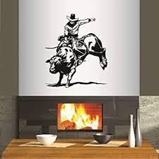 Wall Vinyl Decal Home Decor Art Sticker Rodeo Bull Rider Cowboy Western Sport Boy Man Any Room Removable Stylish Mural Unique Design 178 Amazon Com